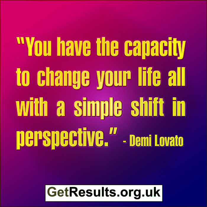 Get Results: change perspective