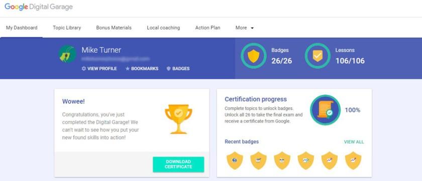 Get Results: Google Garage Digital Marketing Course Pass