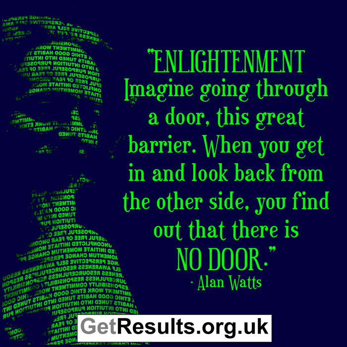 Get Results: Alan Watts Enlightenment quote