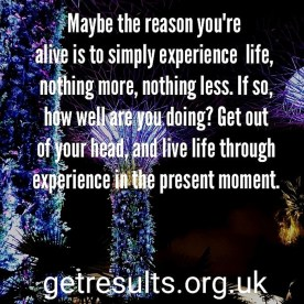 Get Results: experience life