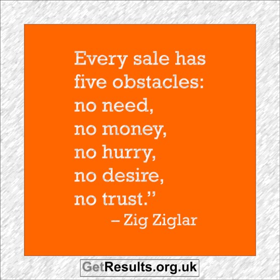 Get Results: 5 obstacles of sales