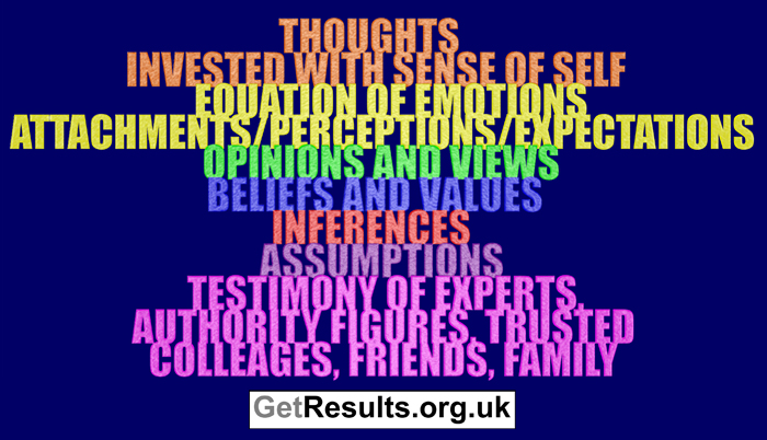 Get Results: thought processes including opinions and beliefs
