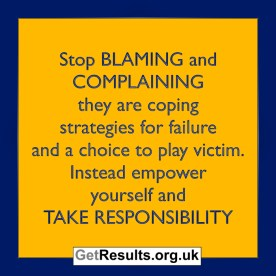 Get Results: take responsibility