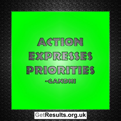 Get Results: action expresses priorities