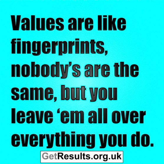 Get Results: values are like fingerprints