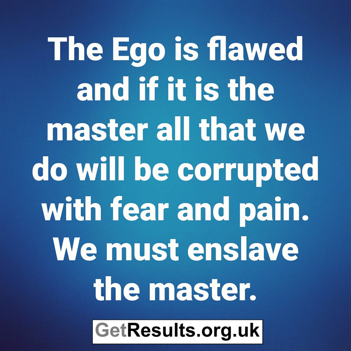 Get Results: The EGO is flawed