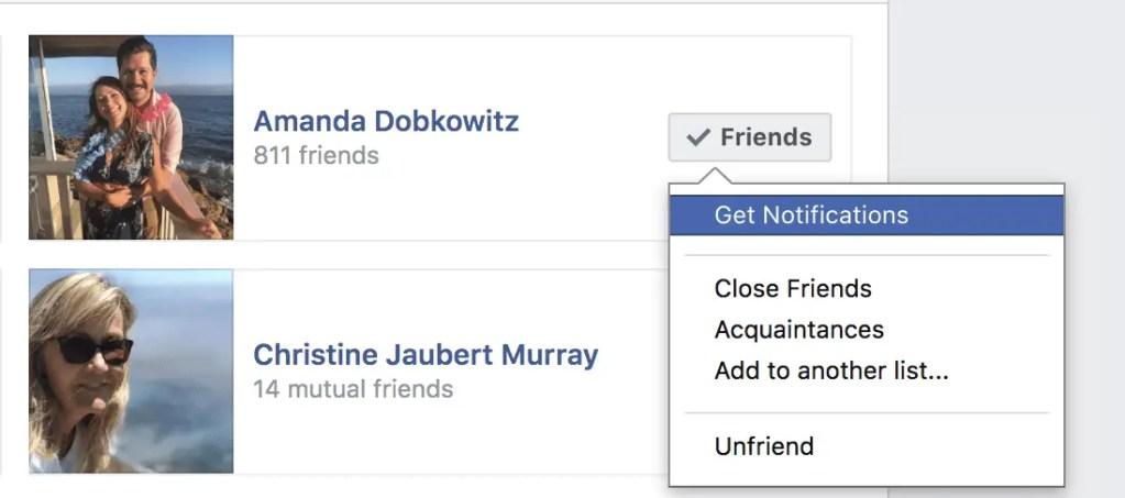 Facebook friend preferences