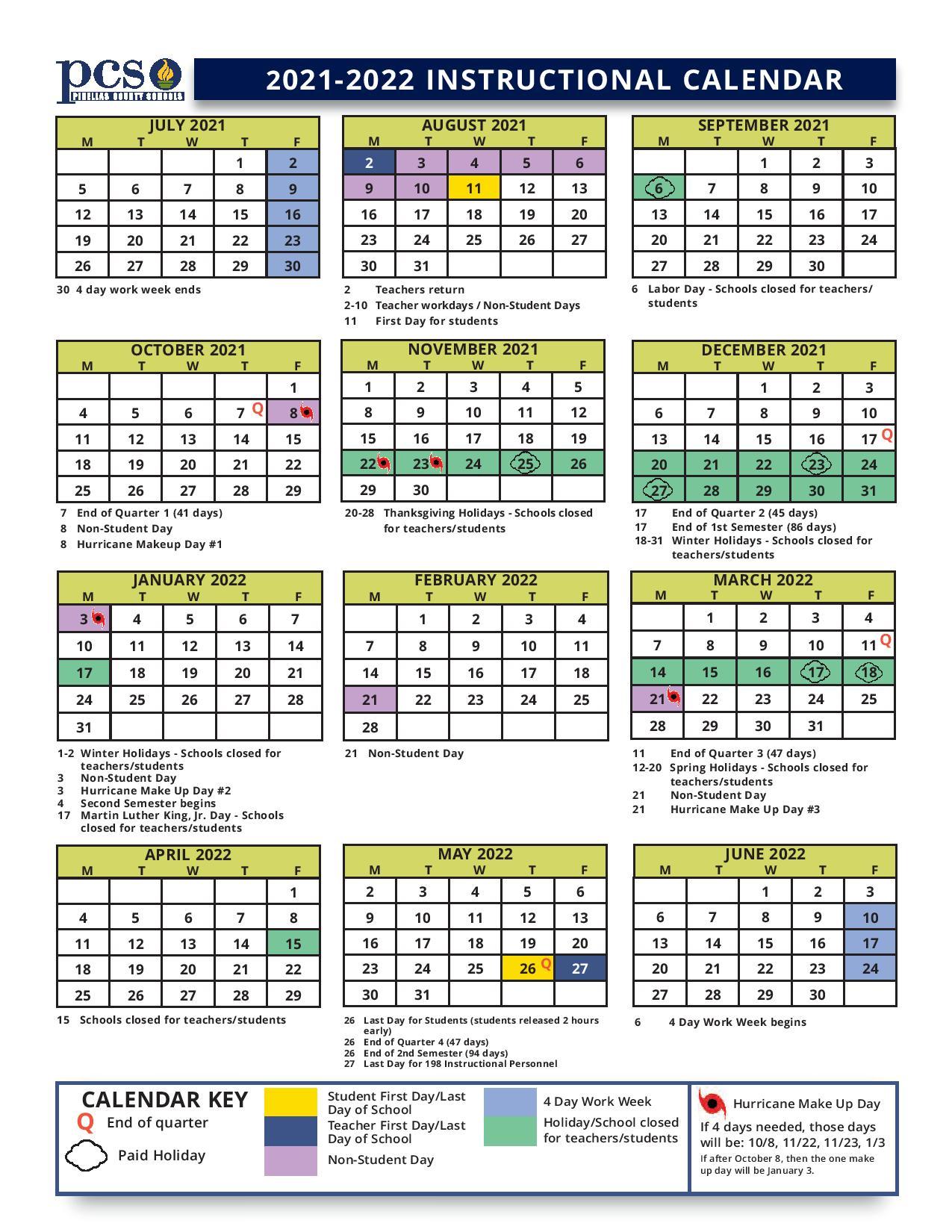 Pinellas County Schools Calendar 2022.Pinellas County School Calendar 2021 2022