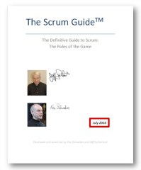 New Scrum Guide 2016
