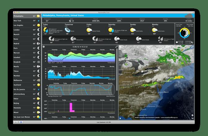 Seasonality Core 2.7.2 Mac 破解版 优秀的动画天气预报工具