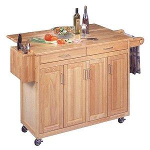 get organized with kitchen island storage & rolling carts