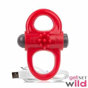 Screaming O Charged Yoga Vibrating Ring Red (1)
