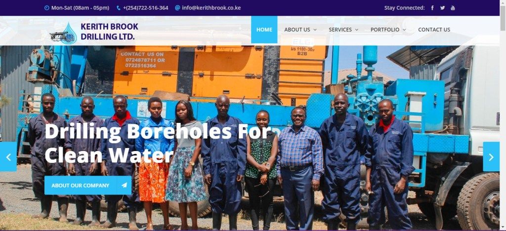 Kerithbrook drilling website by getsharp developers