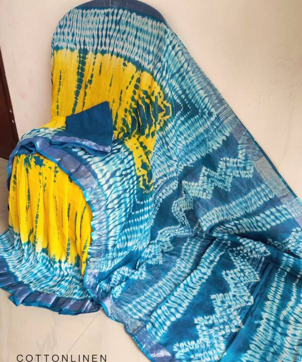 Cotton Linen Saree Online with Pure Cotton Fabric at Lowest Price