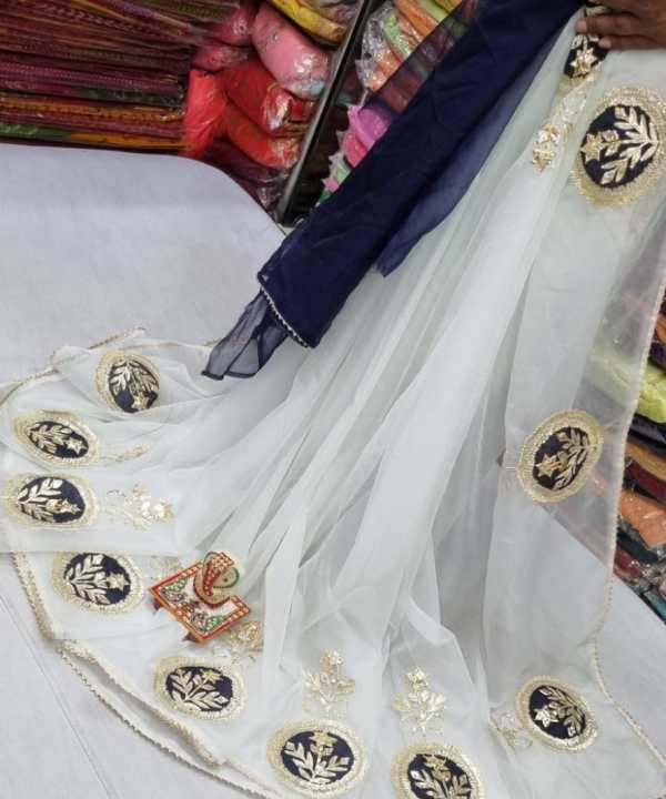 White Organza Saree At Getshoppings With Free Shipping | Buy Now