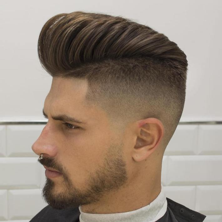 Pompadour short haircuts mens hairstyles
