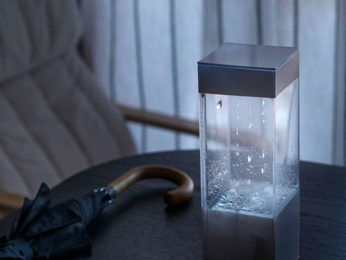 weather terrarium Rain forecast device
