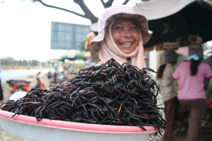 Bizarre Meals People Love to Eat | Fried Spiders - Colombia
