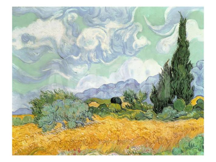 A Wheatfield with Cypresses | Painted by Vincent van Gogh | 25 Most Expensive Paintings in the World