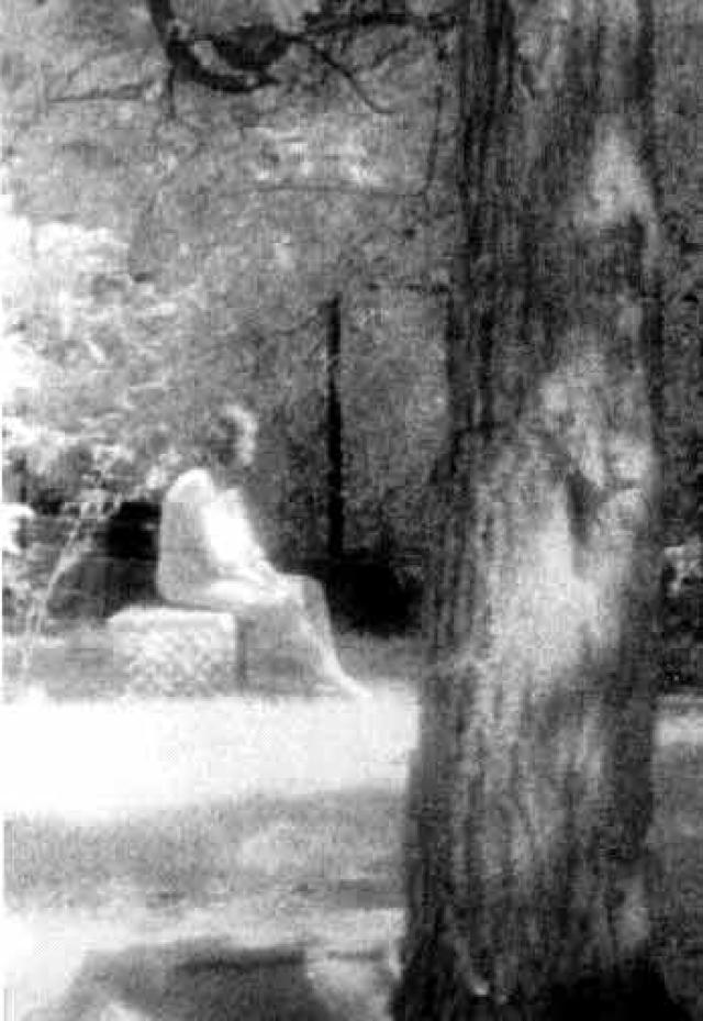Ghost of Bachelor's Grove Cemetery In Chicago