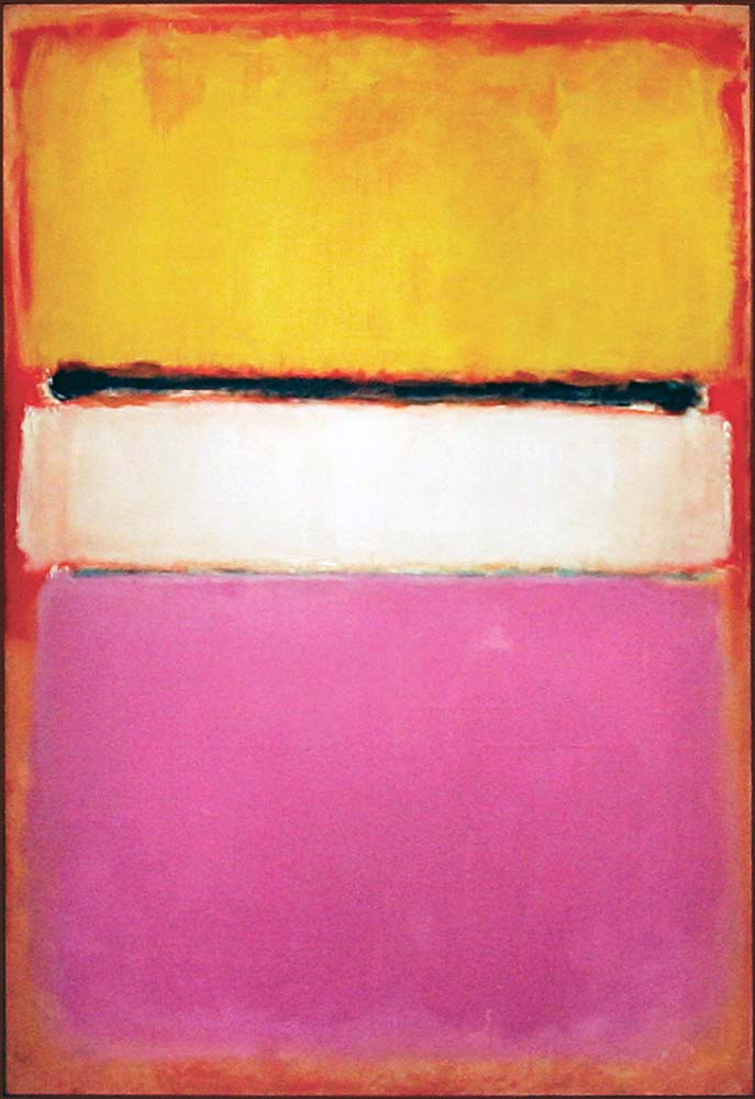 White Center (Yellow, Pink and Lavender on Rose) | Painted by Mark Rothko | 25 Most Expensive Paintings in the World