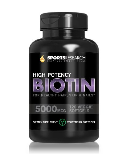 Biotin-High-Potency-5000mcg-Per-Veggie-Softgel-Enhanced-with-Coconut-Oil-for-better-absorption-Supports-Hair-Growth-Glowing-Skin-and-Strong-Nails-120-Mini-Veggie-Softgels-Made-In-USA-0