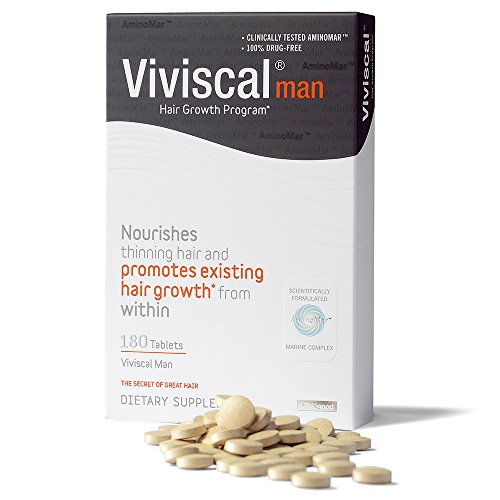 Viviscal Man Hair Dietary Supplements Pills for Thinning Hair, 180-tabs