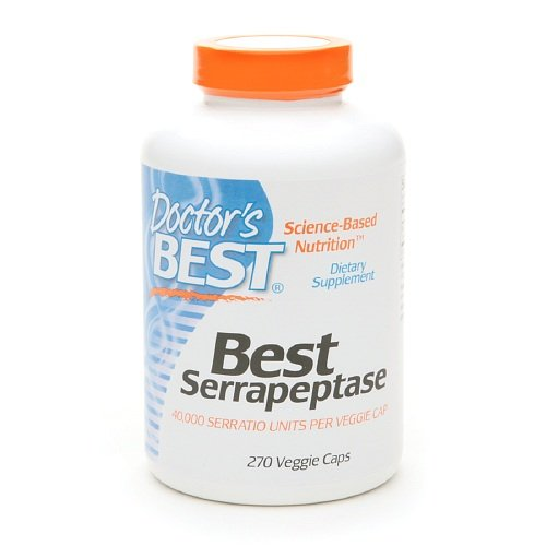 Doctor's Best Serrapeptase 40,000 Units VCaps, 270 ct