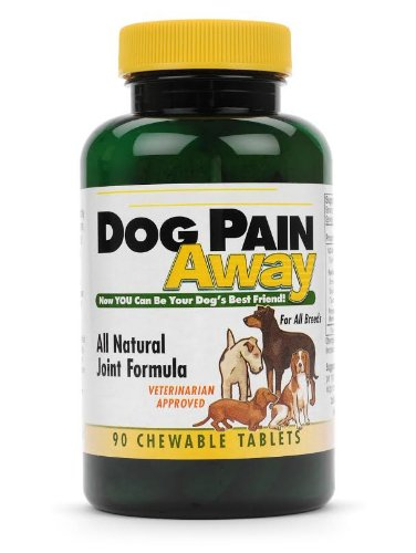 Dog Pain Away, Treats Arthritis, Inflammation, Joint Pain, & Decreased Flexibility – 90 Dog Chewable Tablets