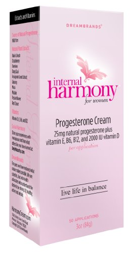 Dream Brands Internal Harmony Progesterone Cream, 3 Ounce