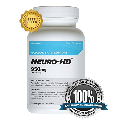 Neuro-HD (60 Capsules) – Best Brain Supplement for Focus, Memory and Concentration – Cognitive Enhancer
