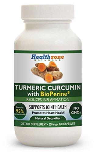 Turmeric Curcumin with BioPerine – 120 Vegetarian 500mg Capsules