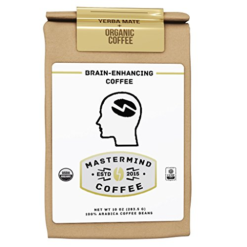 Hyperfocus Brain Enhancing Nootropic Coffee, 10oz 100% Ground Organic-Coffee Supplement Blended with Yerba Mate for Drip – Boosts Mental Clarity, Better Memory & All-day Energy, NO Caffeine Crash!