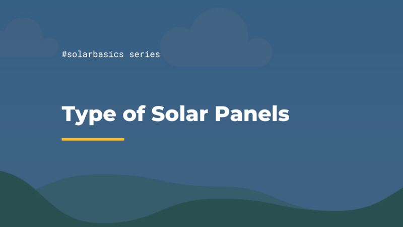 Cover Page of Types of Solar Panels