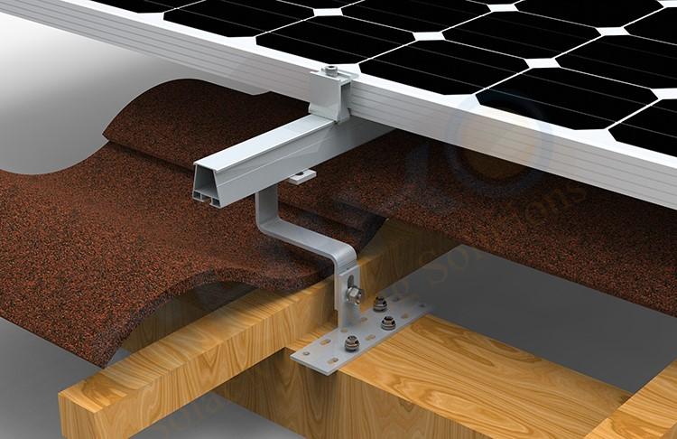 tiled roof solar panel mounting frame solar ai singapore
