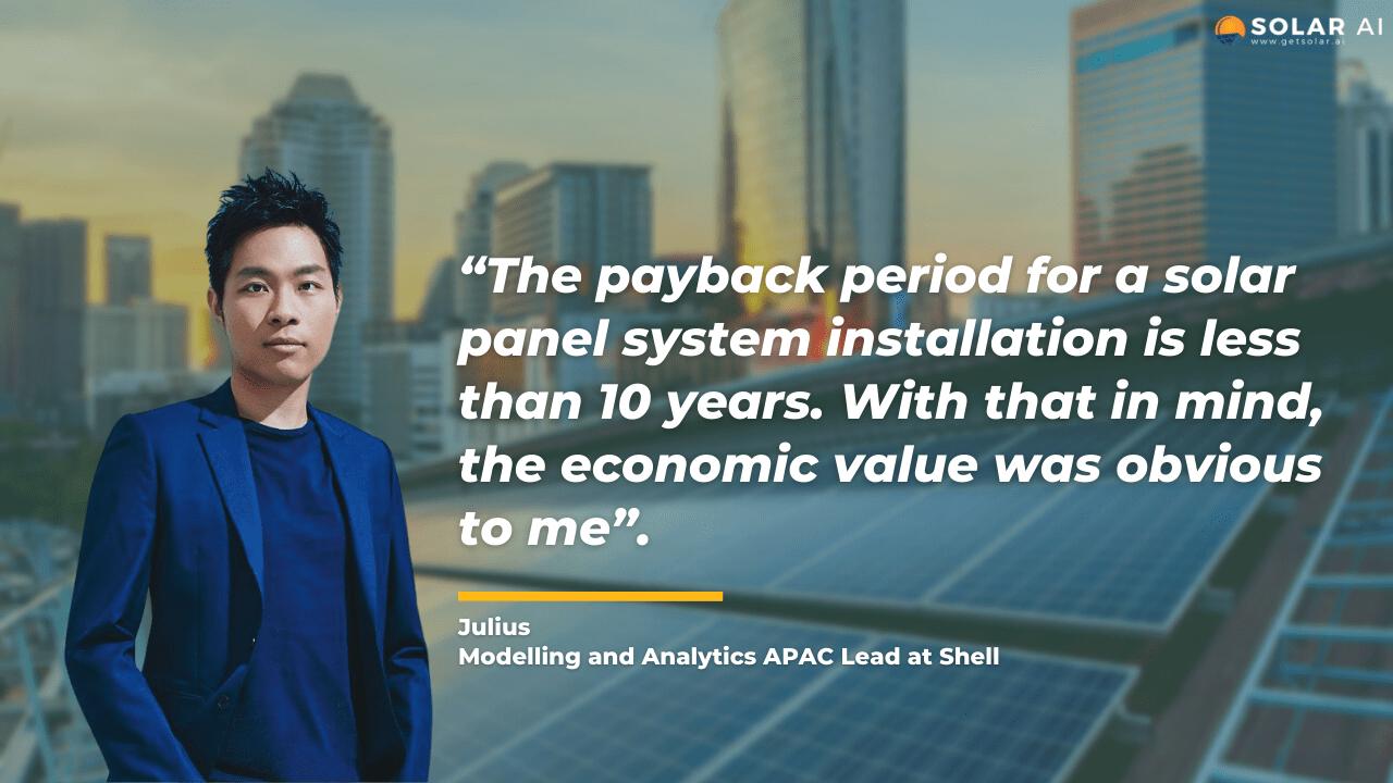 solar homeowner interview julius solar ai singapore