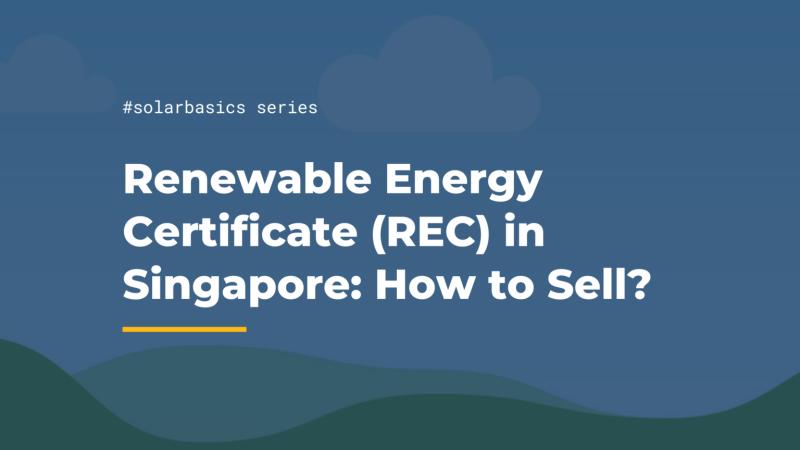 sell renewable energy certificate rec singapore