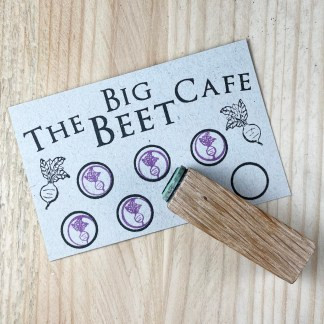 Loyalty card rubber stamp
