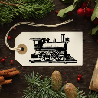 Christmas decoration rubber stamp