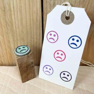 sad face rubber stamp