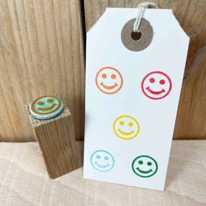 happy face rubber stamp