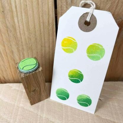 tennis ball stamp