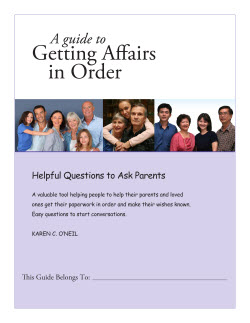 Getting Affairs in Order Parents