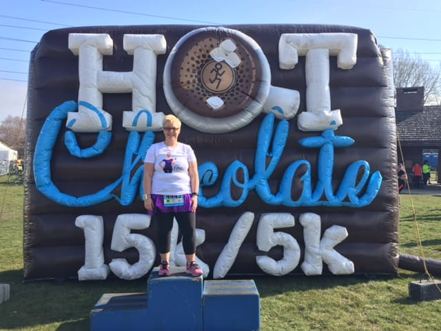 "A Race Recap - Hot Chocolate 5K: My First ""Race"" Back"