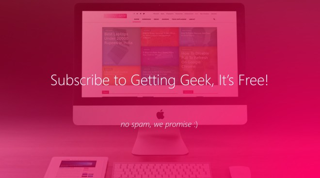 Subscribe to Getting Geek
