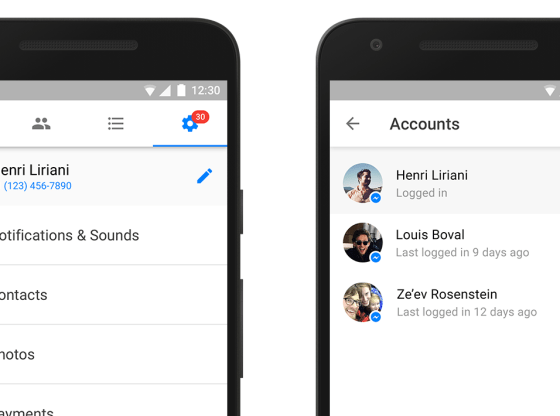 facebook messenger multiple account support