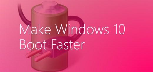 make Windows 10 boot faster