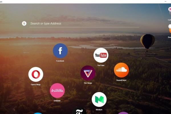Opera Neon Desktop
