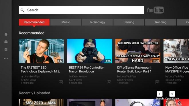 YouTube TV Mode