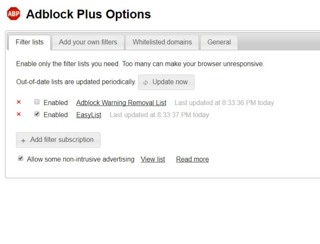 AdBlock Plus is relatively easy to customize for non tech savvy users